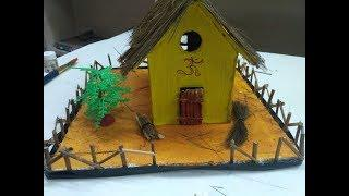 DIY - Kutcha houes | How to make kutcha house at home | School project #DIY #kutchahouse #model