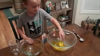 Homemade slime!  With Carter!  How to make slime!  Slime ingredients