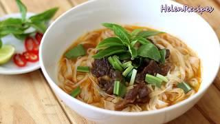 PHO with Beef Stew in Red Wine (PHO BO SOT VANG)