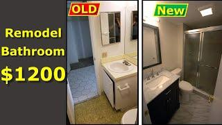 How to Remodel Your Bathroom DIY $1200 Budget - WATCH THIS!