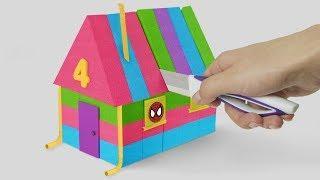 How to make Rainbow Kinetic Sand House | Kids Boom Boom