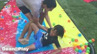 WATER BALLOON FIGHT / SURPRISE EGGS / Outdoor Activities for Kids