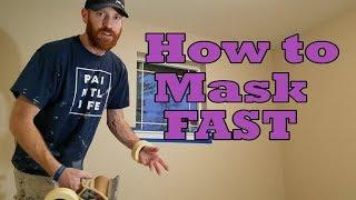 How to mask FAST ! Spray Painting Trim