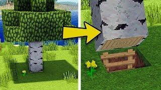Minecraft: How to Build A Survival Secret Base Tutorial (Hidden House)