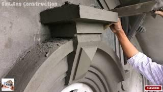 How To Build A Decorative Block Under The Roof Of The House Using Sand And Cement