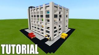 "Minecraft Tutorial: How To Make A Modern Multi Storey Car Park ""2019 City Tutorial"""
