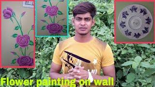 Flower wall painting | Ceiling flower design | Paris  design????????