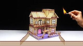 How to Make Matchstick House Fire at Home