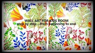 kids wall art, acrylic painting easy  wall art, Children's room wall art decoration ideas