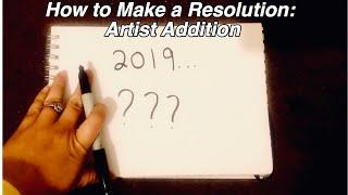 4 tips for your New Years Resolution (Artists)