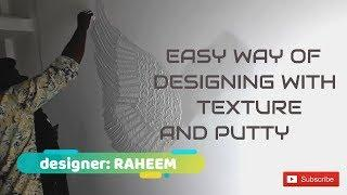 3d  Wall Design Texture Painting from Asian Paints/Dry Wall Putty /Parrot