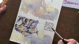 How to paint stone walls in watercolour in 6 minutes Thistle HeART Prints