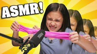 ASMR WITH JILLIAN!!! What Does it Sound Like? Stretchy Noise Making Slime!