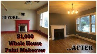 $1,000 WHOLE HOUSE PAINT MAKEOVER
