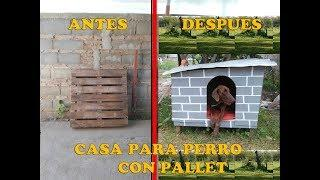 COMO HACER Casa Para Perro//HOW TO MAKE DOG HOUSE