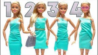 How To Make Barbie Clothes - No-sew No-Glue Doll Clothes ????????