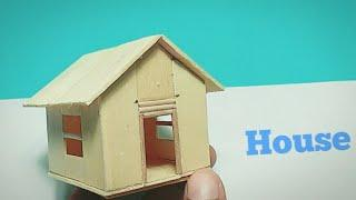 How to make Beautiful Miniature House || Wooden Art and Craft || Build A POPSICLE STICK HOUSE DIY