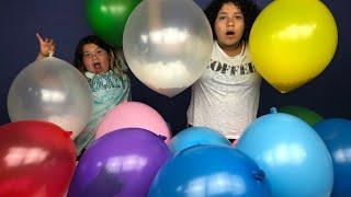 Making Slime With Giant Balloons! Giant Slime Balloon Tutorial Mystery Edition
