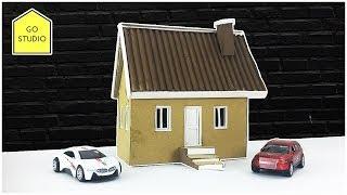 How To Make a Beautiful House From Cardboard - Simple DIY   Cardboard House - Go Studio