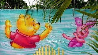 Wall Painting Techniques and Ideas| Play School Wall Painting |