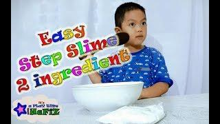 Hafiz making easy slime only with 2 ingredient