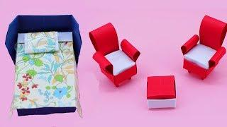How To Make paper house furniture , Life Hacks Paper Craft For Kids