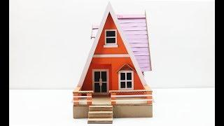 Wow! How to Make a Beatiful House from Cardbaord - DIY Cardboard Projects