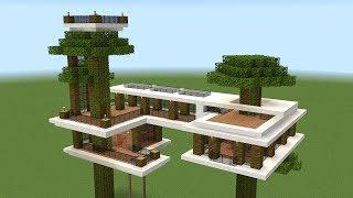 Minecraft - How to build a modern tree house