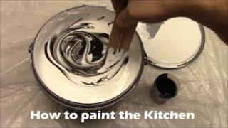 How to paint Kitchen walls ceiling woodwork How to decorate Kitchen Dulux paint