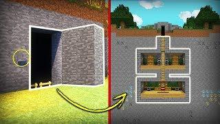 Minecraft: How to Build a Secret Base Tutorial  - Easy Hidden House