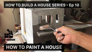 HOW TO PAINT A WALL in a MINI HOUSE | Bricklaying | MINI HOUSE