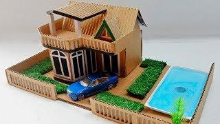 Beautiful Cardboard House With Pool and Garden   Easy and  Fun  Crafts #48