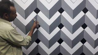 3d wall painting | 3d wall decoration effect | 3d wall texture new design ideas | interior design